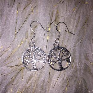 925 sterling silver Tree of life earrings